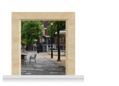 2-Drop Scenic Mural - The Pantiles Kent (240cm)
