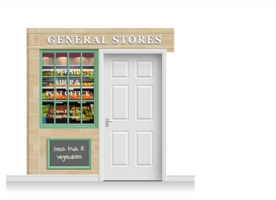 2-Drop Blackburn Shop Front 'General Stores' Mural (240cm)
