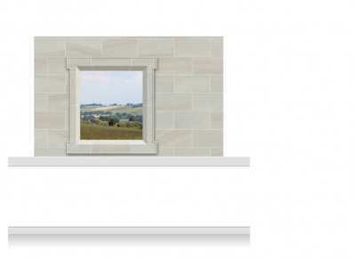 2-Drop Window Frame Mural - Shropshire Countryside (150cm)