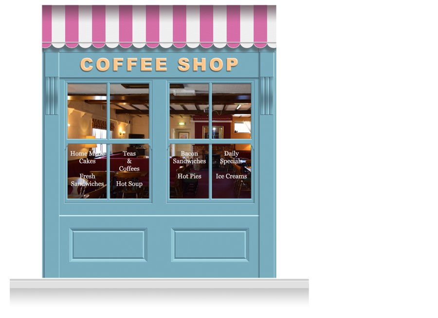 2 drop leamington shop front 39 coffee shop 39 mural 280cm for Mural coffee shop