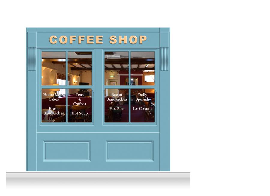 2 drop leamington shop front 39 coffee shop 39 mural 240cm for Coffee shop mural