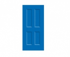 4 Panel Victorian Door Print - Blueberry