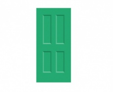 4 Panel Victorian Door Print - Garland Green