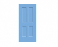 4 Panel Victorian Door Print - Wedgewood Blue