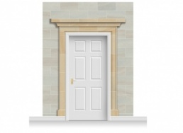 3-Drop Dorchester Door Set Mural (280cm)