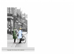 1-Drop Reminiscence Mural - Girls in High Street, Rickmansworth c1921 - colour