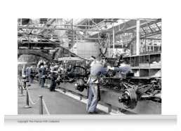3-Drop Reminiscence Mural - Ford Factory, Dagenham c1950 - colour