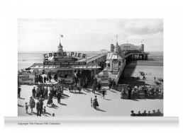 3-Drop Reminiscence Mural - Grand Pier, Weston-super-Mare c1955