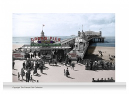 3-Drop Reminiscence Mural - Grand Pier, Weston-super-Mare c1955 - colour