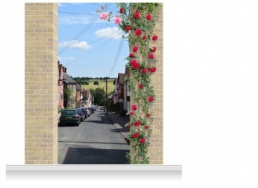 2-Drop Scenic Mural - Suffolk Town (280cm)