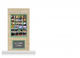 1-Drop Blackburn Shop Front 'Sweet Shop' Mural (240cm)