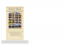 1-Drop Skipton Shop Front 'Sweet Shop' Mural (240cm)