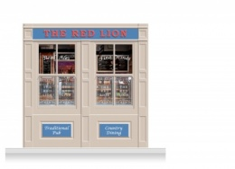 2-Drop Durham Shop Front 'Red Lion Pub' Mural (240cm)