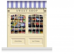 2-Drop Skipton Shop Front 'Sweet Shop' Mural (280cm)