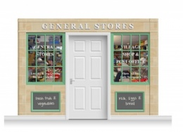 3-Drop Blackburn Shop Front 'General Stores' Mural (240cm)
