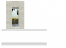 1-Drop Window Opening Mural - River at Dawn (190cm)