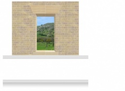 2-Drop Window Opening Mural - Derbyshire Peaks (190cm)