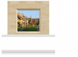 2-Drop Window Opening Mural - Cotswolds Village (190cm)