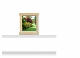 1-Drop Window Mural Sticker - Warwickshire Garden (112.5cm x 120cm)