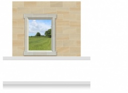 2-Drop Window Frame Mural - Kent Field (190cm)