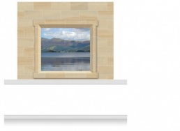 2-Drop Window Frame Mural - Snowdonia Lake (190cm)