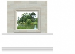 2-Drop Window Frame Mural - Lincolnshire Parkland (190cm)