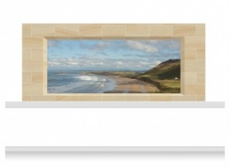3-Drop Window Opening Mural - Gower Coast (150cm)