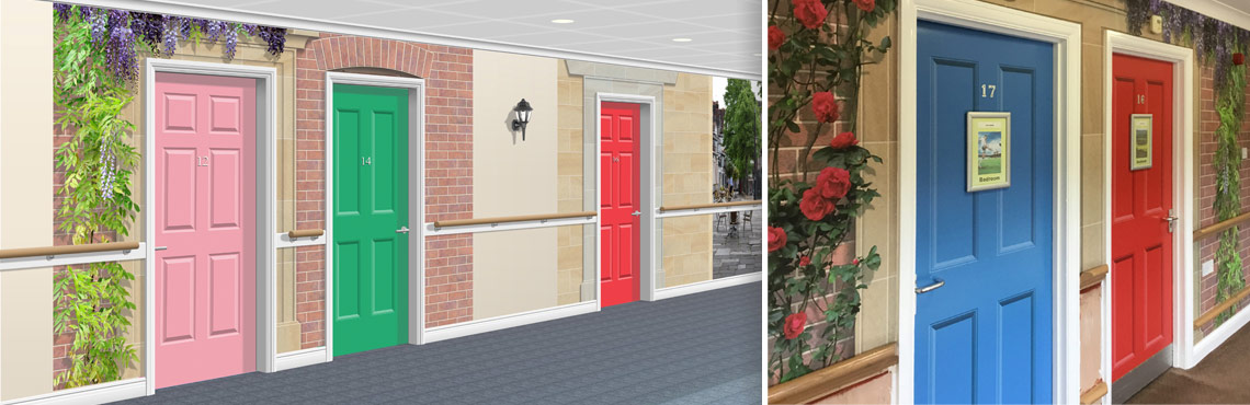 Door Set Murals for Care Homes
