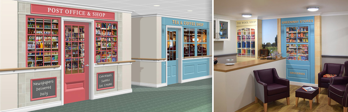Shop Set Murals for Care Homes