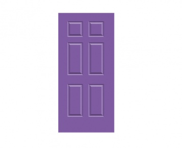6 Panel Georgian Door Print - French Violet