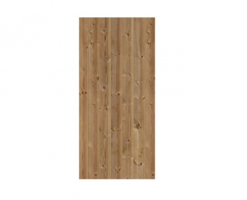 Timber Door Print - Dark Oak
