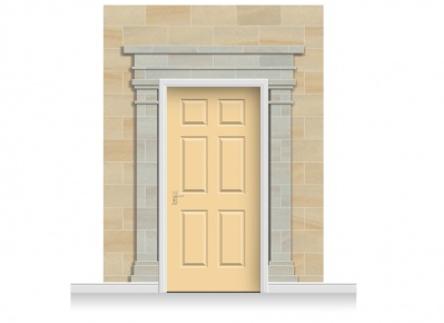 3-Drop Cambridge Door Set Mural (280cm) + Door Print