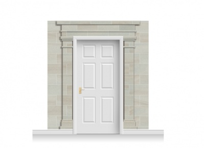 3-Drop Carlisle Door Set Mural (240cm)