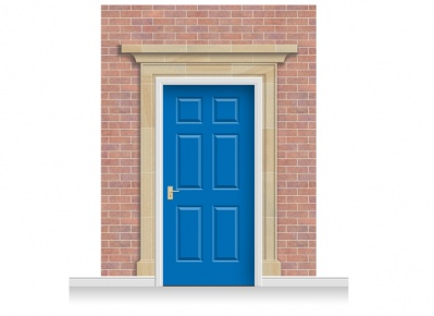 3-Drop Darlington Door Set Mural (280cm) + Door Print