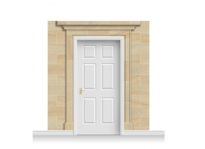 3-Drop Dartford Door Set Mural (240cm)
