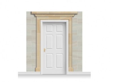 3-Drop Dorchester Door Set Mural (240cm)