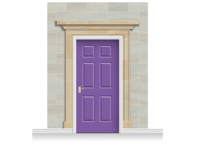3-Drop Dorchester Door Set Mural (280cm) + Door Print