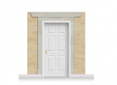 3-Drop Edinburgh Door Set Mural (240cm)