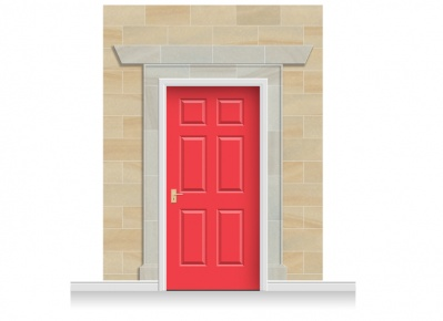 3-Drop Edinburgh Door Set Mural (280cm) + Door Print