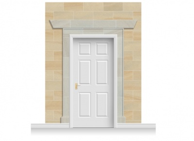 3-Drop Edinburgh Door Set Mural (280cm)