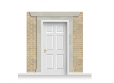 3-Drop Eltham Door Set Mural (240cm)