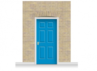 3-Drop Kensiington Door Set Mural (280cm) + Door Print