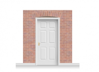 3-Drop Kingston Door Set Mural (240cm)