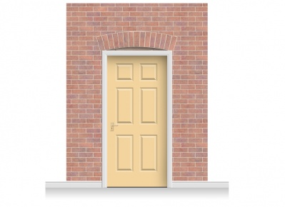 3-Drop Kingston Door Set Mural (280cm) + Door Print