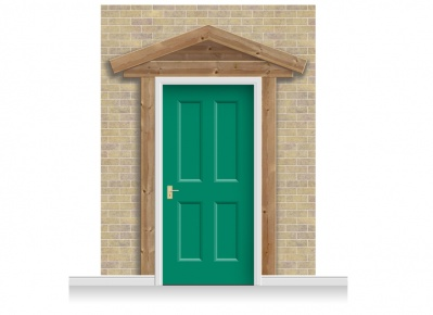 3-Drop Padstow Door Set Mural (280cm) + Door Print