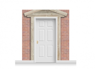 3-Drop Peterborough Door Set Mural (240cm)