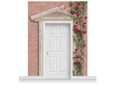 3-Drop Peterborough Door Set Mural (280cm) with Roses