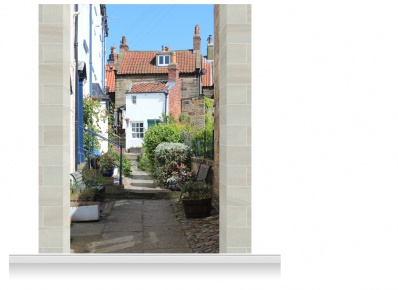 2-Drop Scenic Mural - Yorkshire Village (280cm)