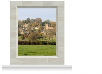 2-Drop Scenic Mural - Cotswolds Village (280cm)