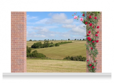 3-Drop Scenic Mural - Leicestershire Fields (240cm)